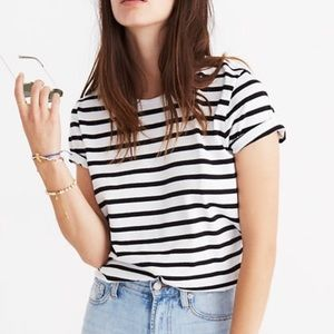 Madewell Striped Tie-Back T-shirt